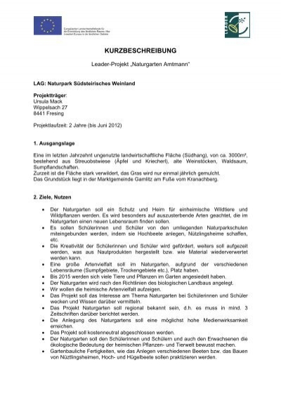 Naturgarten Amtmann - Raumplanung Steiermark