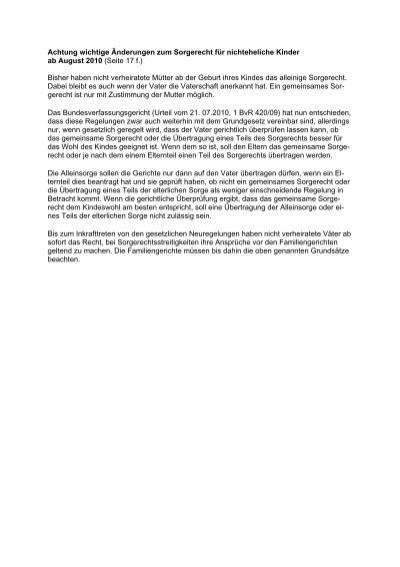 Gesetzliche regelung umgangsrecht vater