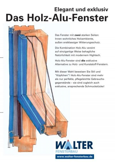 Fenster Innen Holz Ausen Alu ~ Elegant und exklusiv Das Holz Alu Fenster  Walter Fensterbau