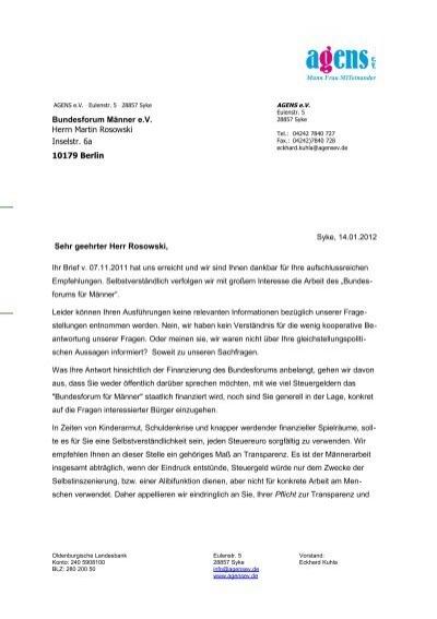 word vorlagen brief template musterbrief agens ev
