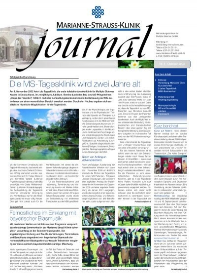 Journal marianne strauss klinik - Journal marianne adresse ...