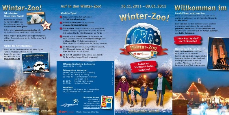 Een Warme Winter : Winter zoo flyer pdf zoo hannover