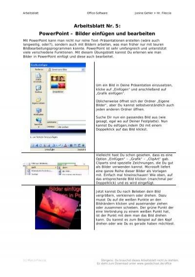PowerPoint – Bilder einfügen und bearbeiten - goodschool.de