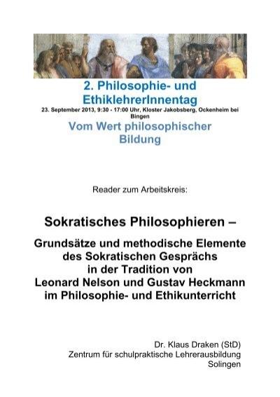 sokratisches gesprch fachverband philosophie rheinland pfalz - Sokratisches Gesprach Beispiel