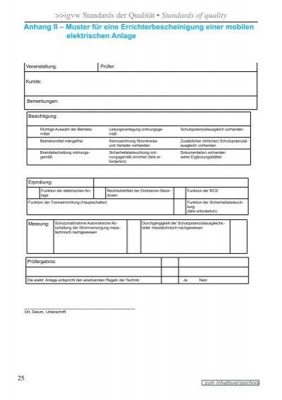 anhangigvw - Prufprotokoll Bgv A3 Muster