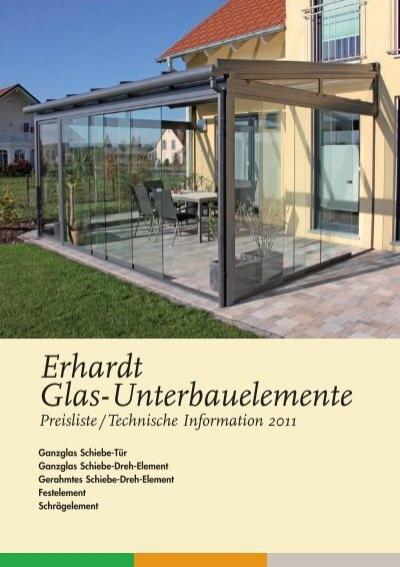 Erhardt Glas Unterbauelemente
