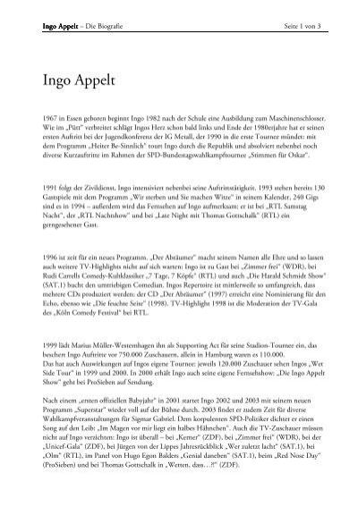 download lebenslauf flietext als pdf datei appelt ingo - Lebenslauf Flietext
