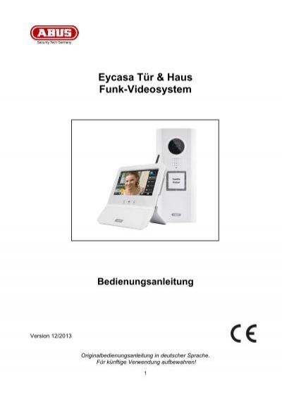 eycasa t r haus funk videosystem bedienungsanleitung abus. Black Bedroom Furniture Sets. Home Design Ideas