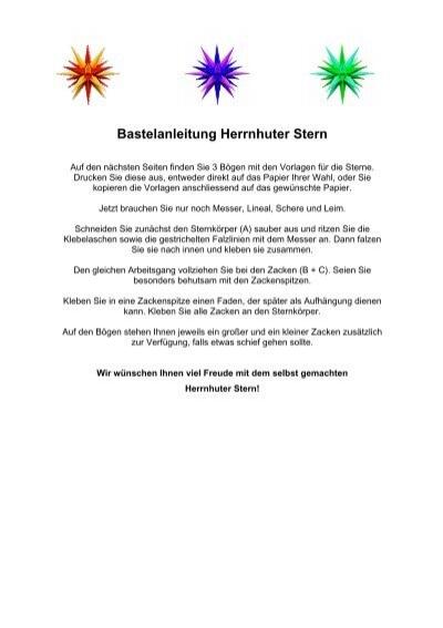 Herrnhuter Stern Bastelanleitung