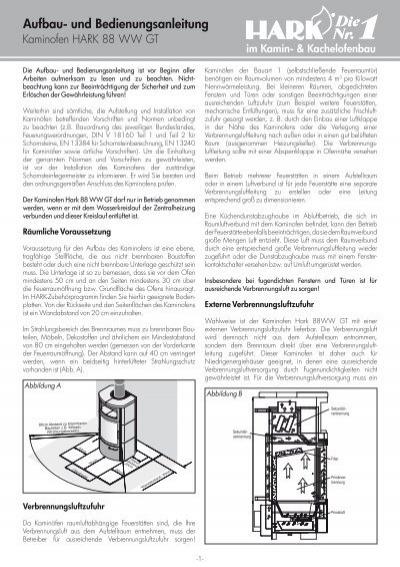 kaminofen anleitung hark 88 ww gt ecoplus. Black Bedroom Furniture Sets. Home Design Ideas