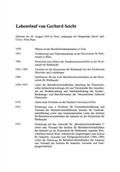 related for 5 lebenslauf aktuell. lebenslauf von gerhard seicht ...