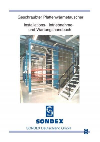 Geschraubter Plattenwärmetauscher Installations ... - Sondex