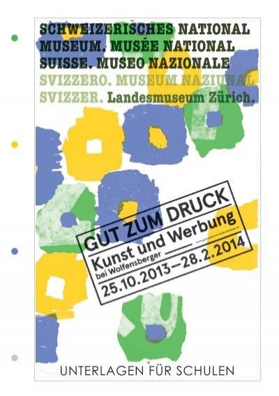 Unterlagen Für Schulen Gut Zum Druck Landesmuseum Zürich
