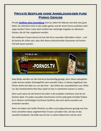 online sexfilme