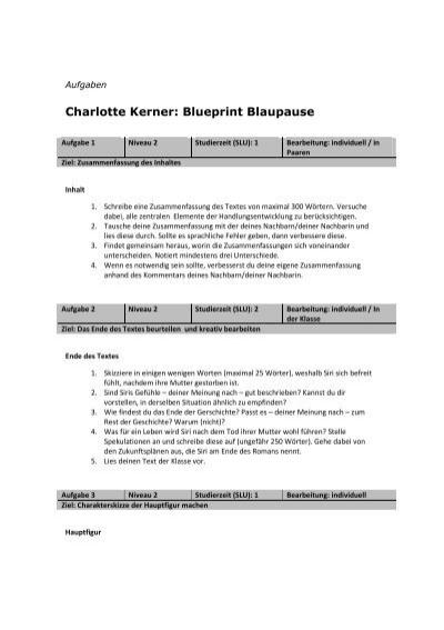 Charlotte kerner blueprint blaupause lezen voor de lijst malvernweather Image collections