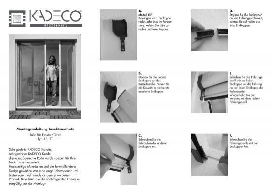 Dusche Fenster Rollo : Montageanleitung Insektenschutz Rollo f?r Fenster/T?ren – Kadeco