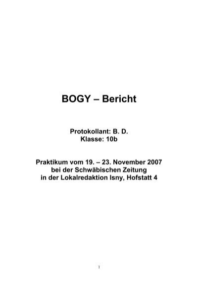 bogy bericht gymnasium isny - Wolfgang Schuble Lebenslauf