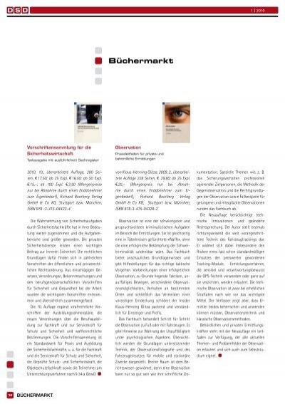 observation praxisleitfaden fr private und behrdliche ermittlungen
