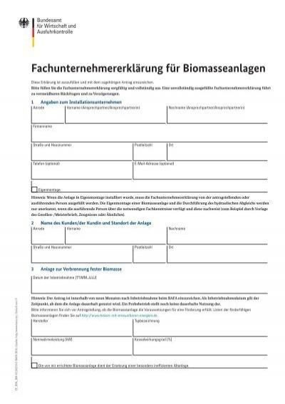 fachunternehmererklrung - Fachunternehmererklrung Muster