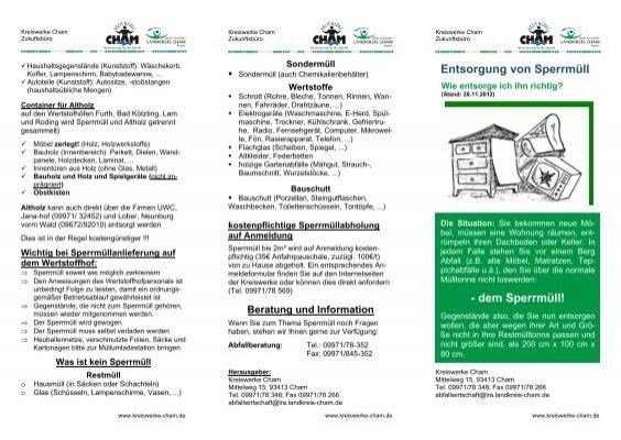 Entsorgung von sperrm ll dem sperrm ll kreiswerke cham - Mobel entsorgung gratis ...