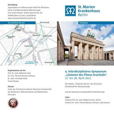"4. Interdisziplinäres Symposium ""Läsionen des Plexus brachialis"" 27 ..."