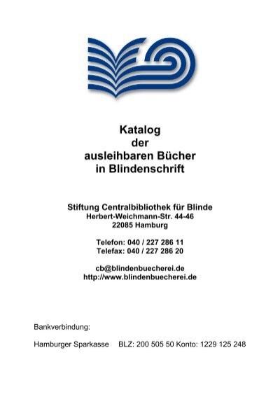 Katalog Ausleihbarer Bucher In Blindenschrift Stiftung