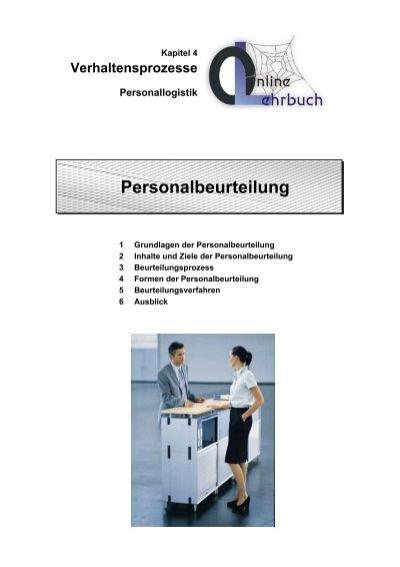 Verhaltensprozesse Personallogistik Personalbeurteilung