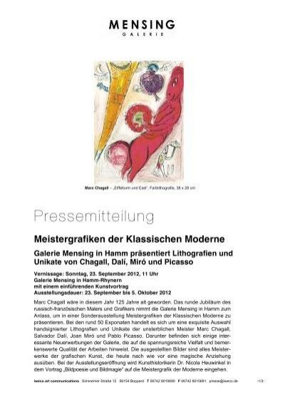 Galerie Mensing Hamm meistergrafiken der klassischen moderne galerie mensing in hamm