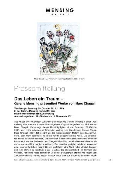 Galerie Mensing Hamm galerie mensing präsentiert werke marc chagall