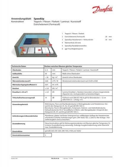 anwendungsblatt speedup estrichelement fermacell. Black Bedroom Furniture Sets. Home Design Ideas