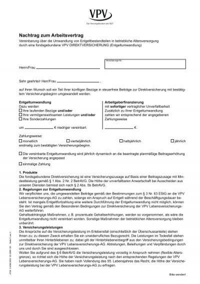 Nachtrag Zum Arbeitsvertrag Anadolufotografdernegi