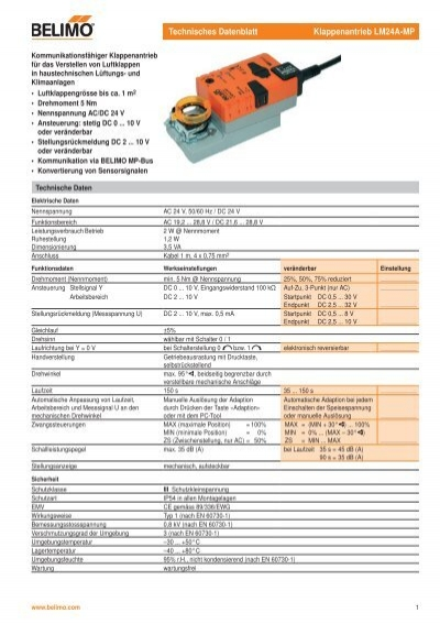 Business, Office & Industrial HVAC & Refrigeration Belimo LM24A ...