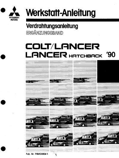 Colt Lancer Lancer Hatchback - 1990 - Werkstatt-Anleitung - .pdf