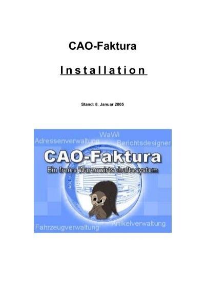 Cao Faktura Installation