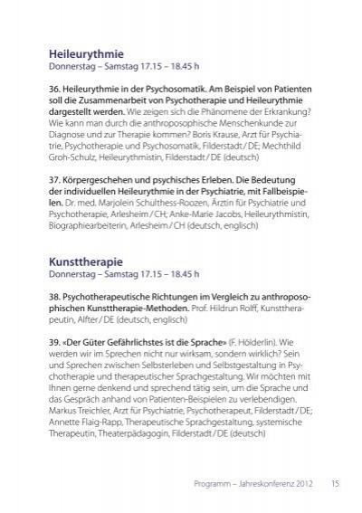 16 forschung donnerstag - Anthroposophische mobel ...