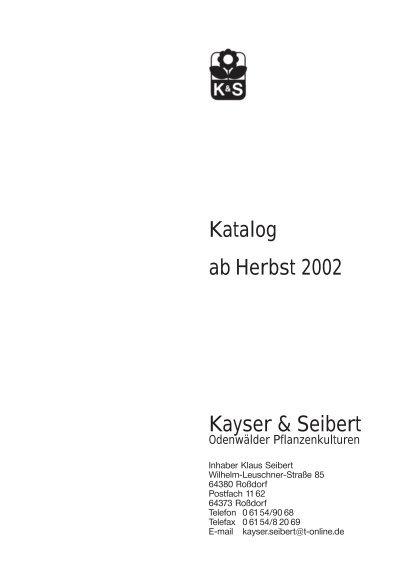 Holzland Seibert 10452 katalog kayser seibert