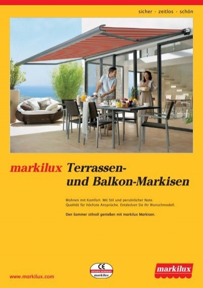 gf info markilux terrassen balkon. Black Bedroom Furniture Sets. Home Design Ideas