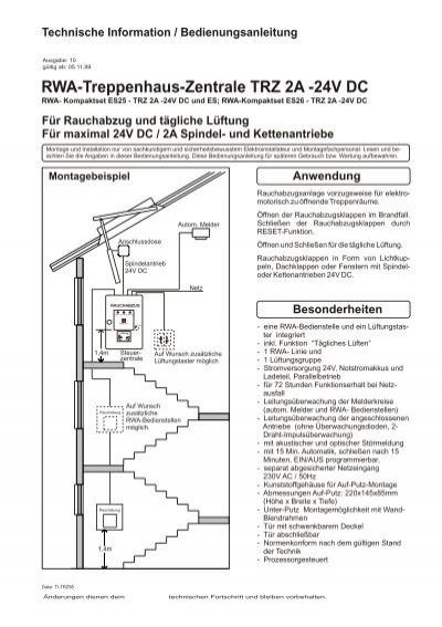 Treppenhaus technische zeichnung  RWA-Treppenhaus-Zentrale TRZ 2A -24V DC - STG-Beikirch