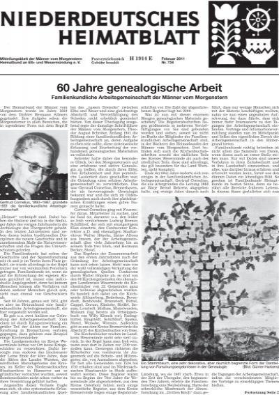 60 Jahre Genealogische Arbeit