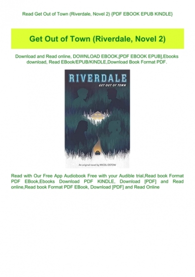 Download Get Out Of Town Riverdale 2 By Micol Ostow