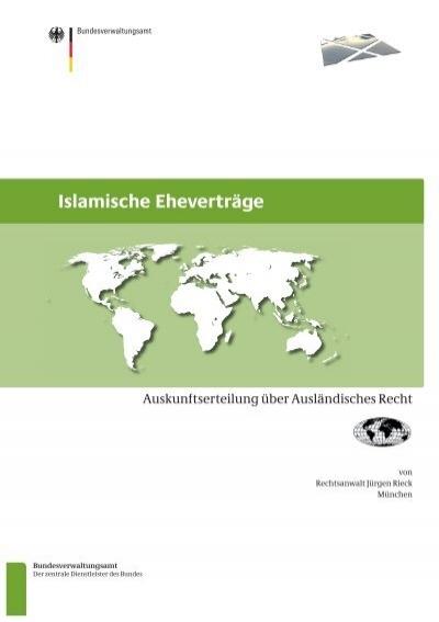 islamische ehevertrge bundesverwaltungsamt - Ehevertrag Muster