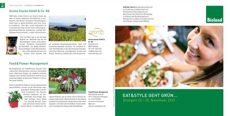 flyer zur eat style bioland baden w rttemberg. Black Bedroom Furniture Sets. Home Design Ideas