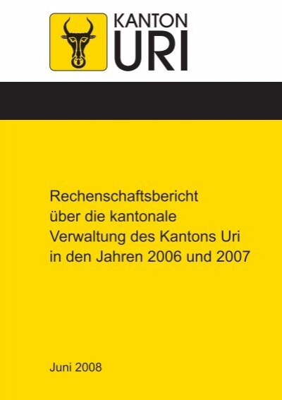 rechenschaftsbericht ber die kantonale verwaltung in den. Black Bedroom Furniture Sets. Home Design Ideas
