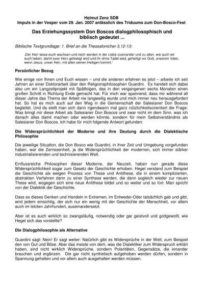 Helmut Zenz SDB - 2. Geistlicher Impuls am 29.01 - Don Bosco ...