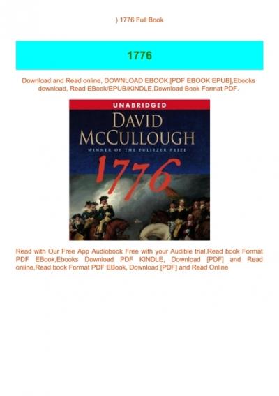 Download Pdf 1776 Full Book