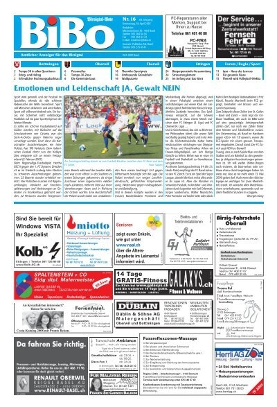 Alles neu macht der Brgerrat - Riehener Zeitung