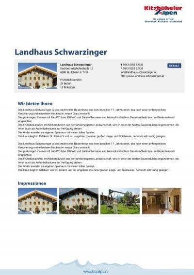 Landhaus Schwarzinger - Kitzbüheler Alpen St. Johann in Tirol