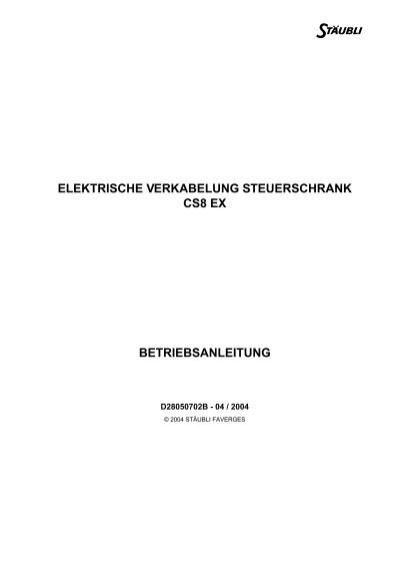 elektrische verkabelung steuerschrank cs8 ex ... - eule-robotics.de