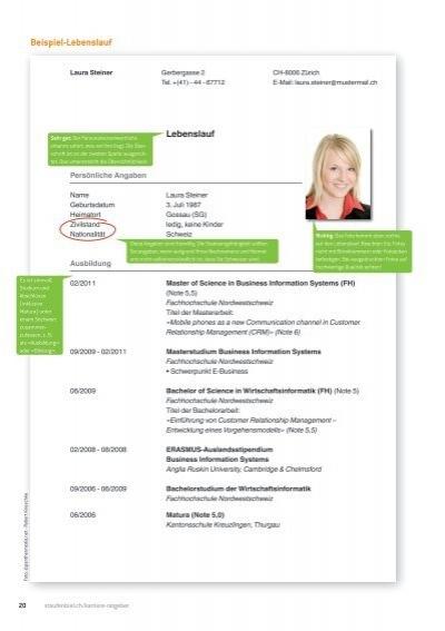 Beispiel-Lebenslauf - Staufenbiel.ch