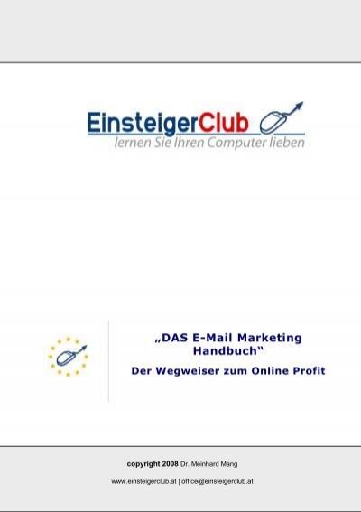 Das E Mail Marketing Handbuch Plr Ebooks Verkaufen Geld